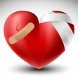 Broken heart with bandage — Stock Vector #19467921