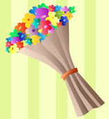 Bouquet di fiori — Vettoriale Stock