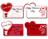 Valentines day greeting card set — Stock Vector