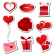 Stock Vector: Valentines day sticker set