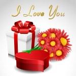 Valentine gift set — Stock Vector