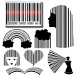 Stock Vector: Bar code set