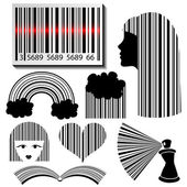 Bar code set — Stock Vector