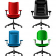 Stock Vector: Office chair set