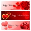 Valentine banner set eps10 — Stock Vector