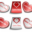 Valentine sticker set — Stock Vector