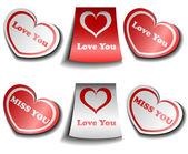 Valentine sticker set — Stock Vector