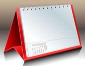 Blank desk calendar — Stock Vector