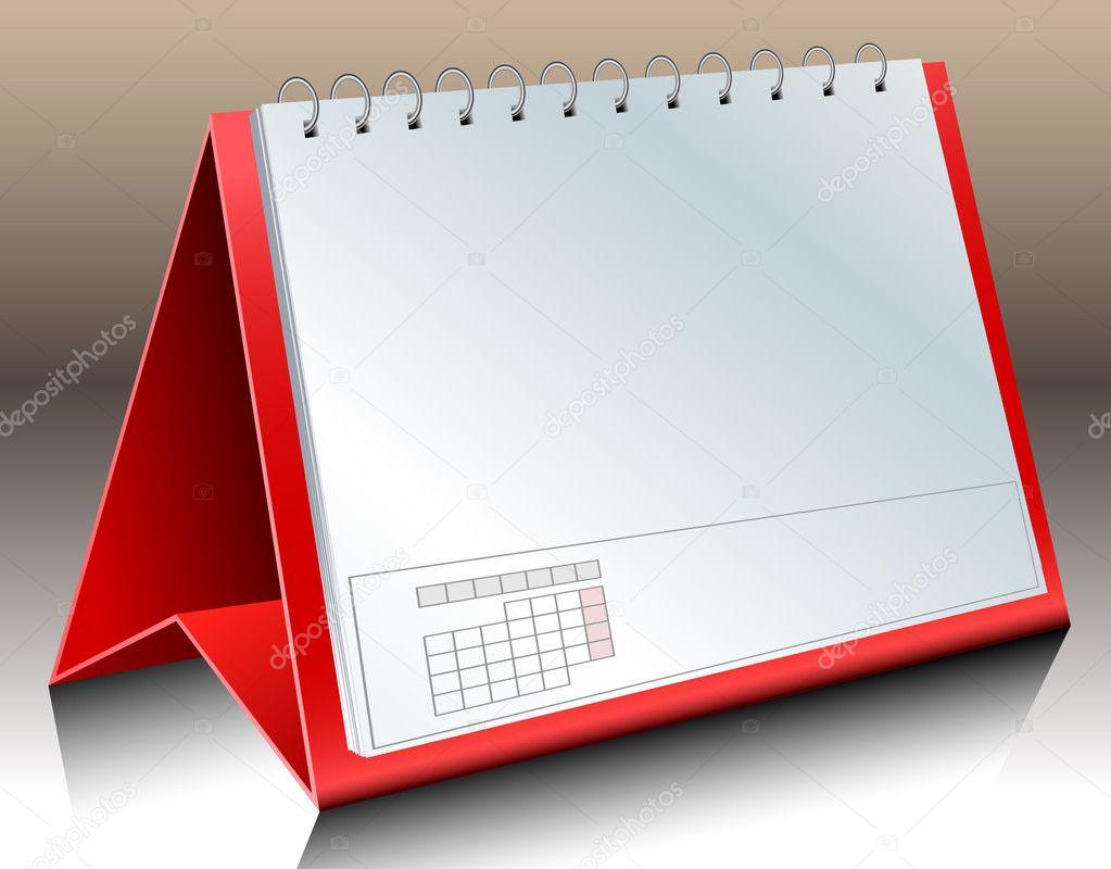 Calendar Illustration : Blank desk calendar — stock vector helioshammer