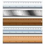 Ruler set — Stock Vector