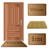 Door mat set — Stock Vector