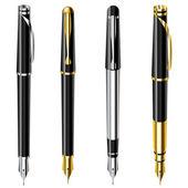 Fountain pen set — Stock Vector