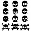Skull symbol set — Stock Vector