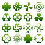 Abstract clover symbol set — Stock Vector