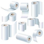 Paper roll set — Stock Vector