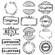 Royalty-Free Stock Vector Image: Stamp collection