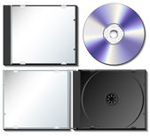 CD case set with CD — Stock Vector