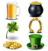 St Patricks day symbol set eps10 — Stock Vector