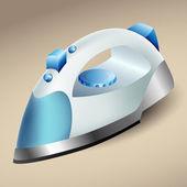 Blue steam iron — Stock Vector
