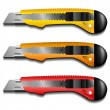 Cutter knife set — Image vectorielle