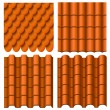 Stock Vector: Roof pattern set