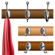 Stock Vector: Coat rack set