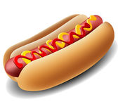 Realistic hot dog — Stock Vector