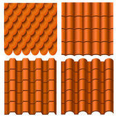 Roof pattern set — Stock Vector