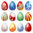 Easter egg set — Stock Vector