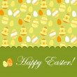 Stock Vector: Easter greeting card with pattern