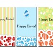 Easter card set — Stock Vector