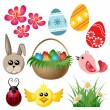 Easter symbol set — Stock Vector