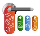Easter door hanger set — Stock Vector