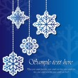 Snowflake sticker background - Stock Vector