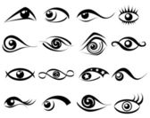 Abstract eye symbol set — Stock Vector