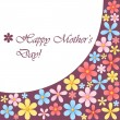 Mothers day card with flowers — 图库矢量图片