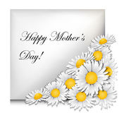 Mothers day card with daisies — Stock Vector