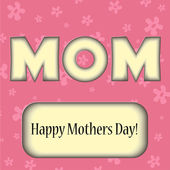 Mothers day greeting card — Stock Vector