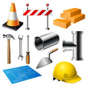Construction item set — Stock Vector