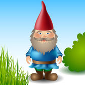 Garden gnome — Stock Vector