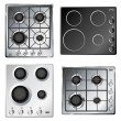 Kitchen stove hob set — Stock Vector