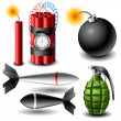 Bomb set — Stock Vector