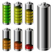 电池电量级别设置 — 图库矢量图片
