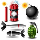 Bomb set — Stock Vector