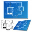 House plan set — Image vectorielle
