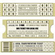 Bus ticket set — Stock Vector #26083365
