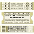 Bus ticket set — Stock Vector