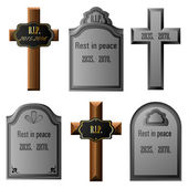 Gravestone set — Stock Vector