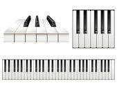Piano key set — Stock Vector
