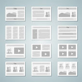 Page layout template set — Stock Vector